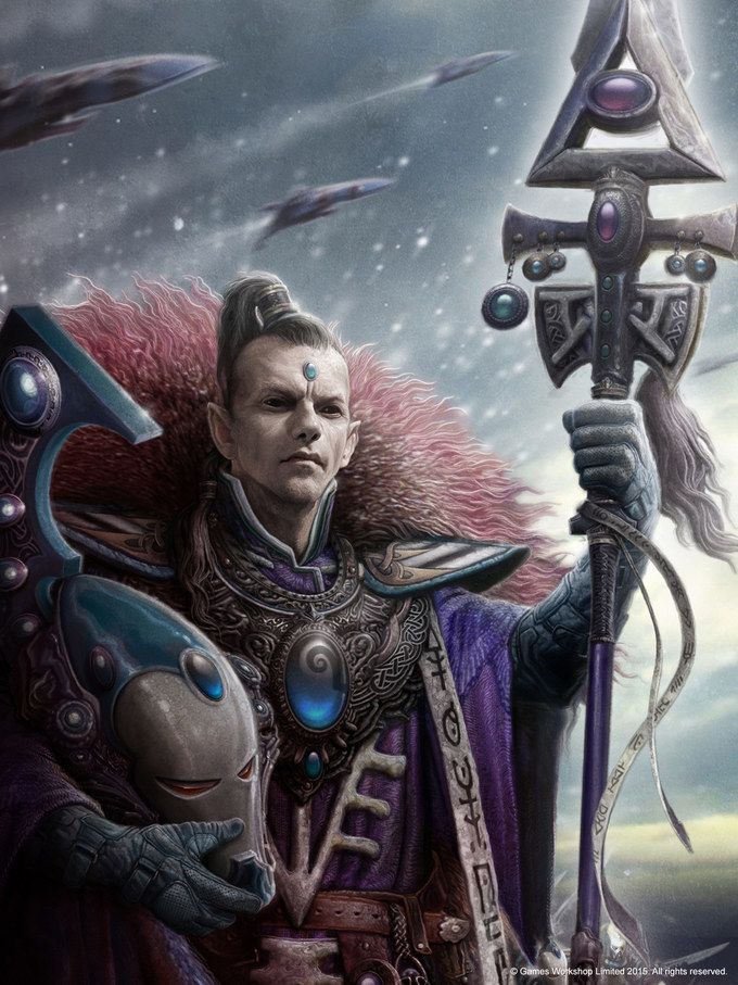 Farseer Eldrad Ulthran of the Craftworld Ulthwé, and most talented and powerful Farseers the Eldar have ever known
