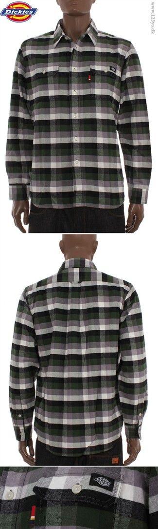 DICKIES Langærmet Cotton Flannel skjorte