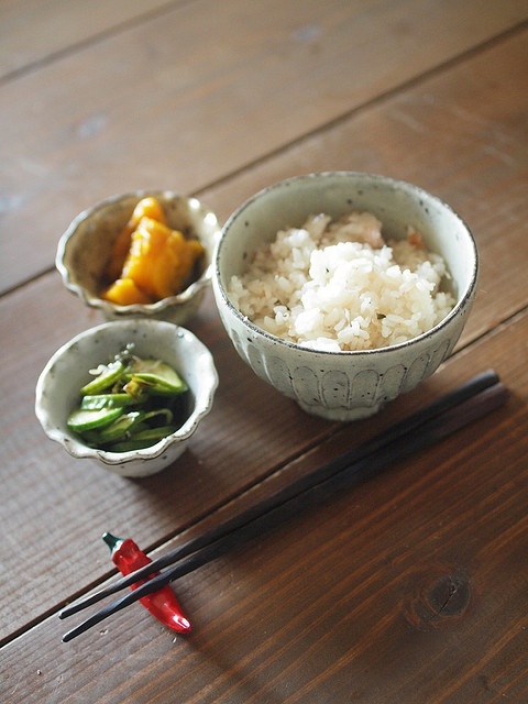 Simple Japanese meal 残りものランチ。