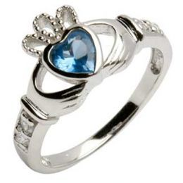 Claddagh... my wedding ring(mine is a sapphire)