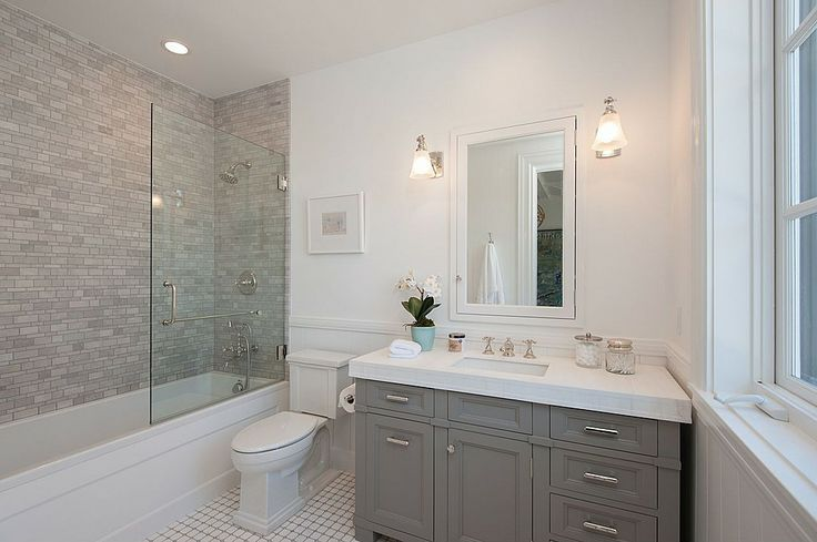 Contemporary full bathroom find more amazing designs on for Bathroom ideas zillow