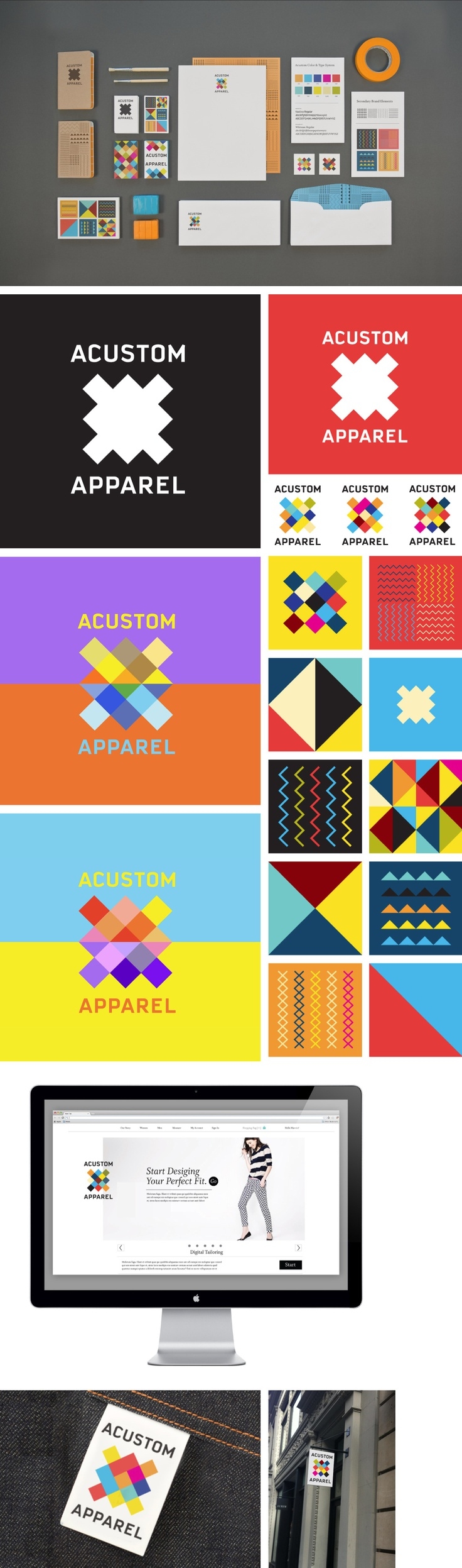 Acustom Apparel Identity by Matt Luckhurst