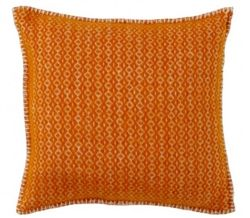 Klippan Rumba Orange Eco wool cushion covers, also available as a throw at Northlight