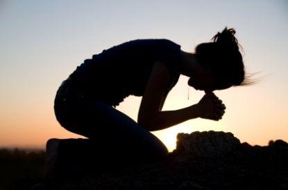 Praying. Talking to my Father.