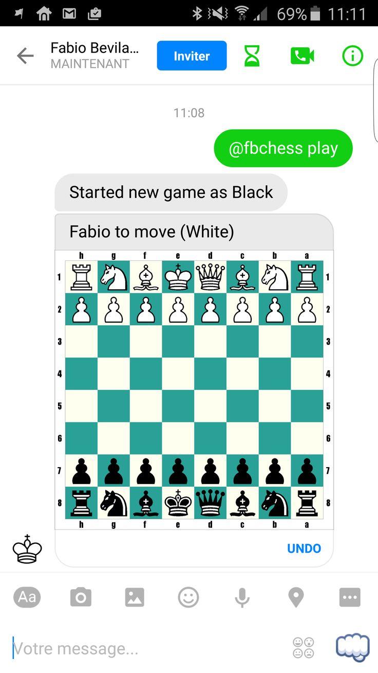 Il est possible de jouer aux échecs via Facebook Messenger