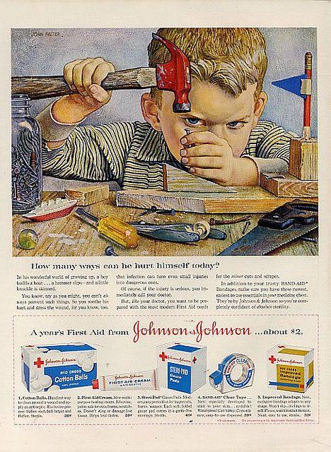 481122371f7b6ebed5507cda7b13c54e--retro-ads-vintage-advertisements Vintage Advertising : Johnson & Johnson ad