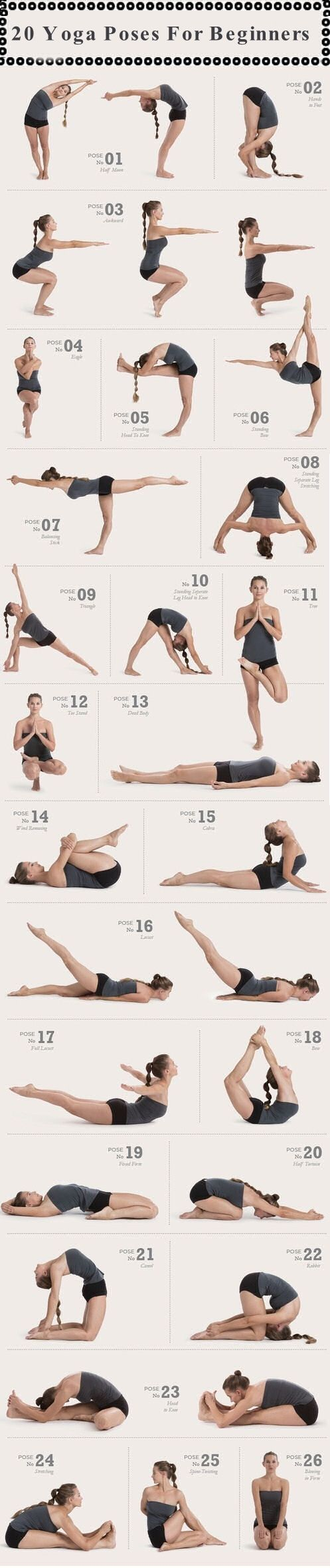 Fitness Illustration Description 20 Yoga Poses For Beginners Pictures, Photos, and Images for Facebook, Tumblr, Pinterest, and Twitter – Read More –