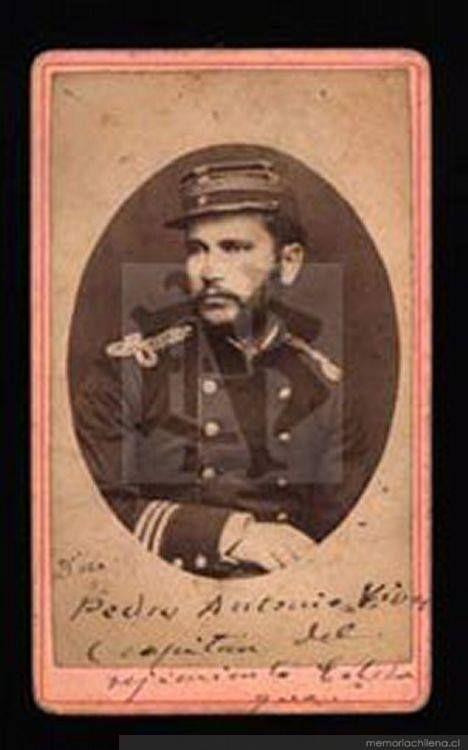 Pedro Antonio Vivar, Capitán Regimiento Colchagua, 8 de mayo de 1880 Pedro Antonio Vivar, Captain of Colchagua Regiment, may 8th, 1880