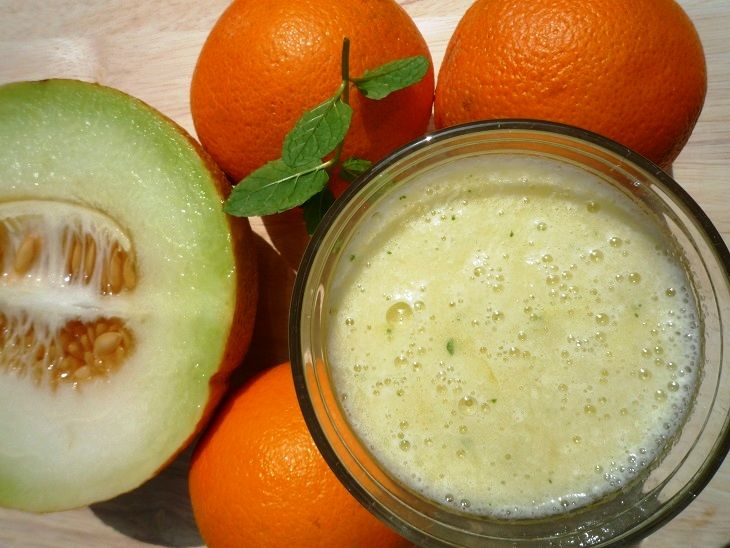 Recept Fruitsap Meloen Sinaasappel Munt - AugurkenMetSlagroom