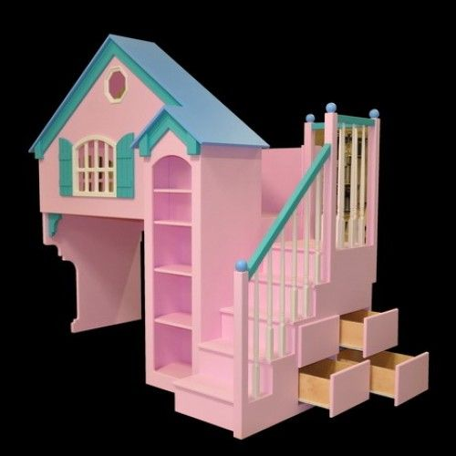 Dollhouse Loft Bunk Bed Plans - WoodWorking Projects & Plans