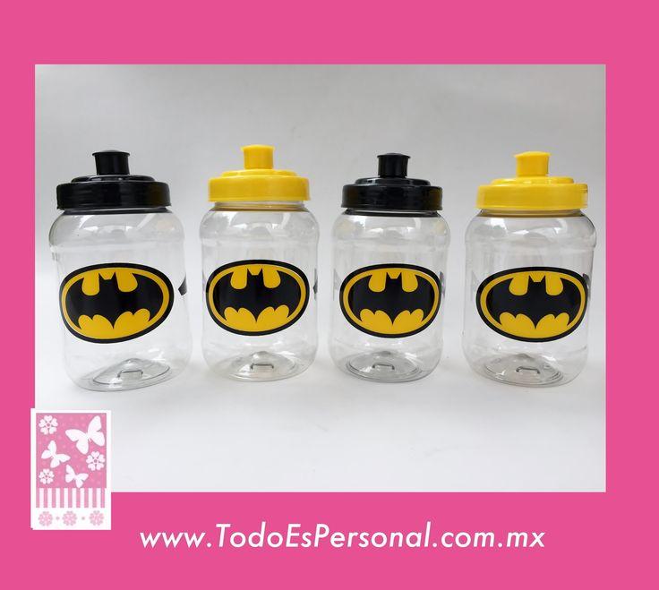 Batman, héroes, comics, recuerdos fiesta infantil . Cilindros a dos tintas de 500ml ($16.50 c/u) compra minima 50 piezas