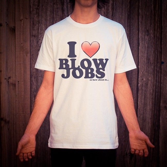 Buy I Love Blow Jobs White Tee Shirt online today at Uncle Reco's Online Store.