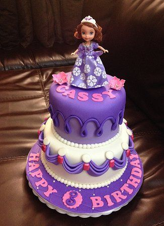 Goldilocks birthday cakes sofia the first
