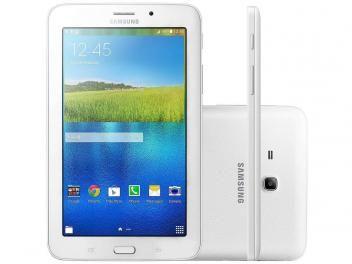 """Tablet Samsung Galaxy Tab E 8GB 7"""" Wi-Fi - Android 4.4 Proc. Quad Core Câmera Integrada com as melhores condições você encontra aqui no Magazine Allameda. Venha Conferir!"""