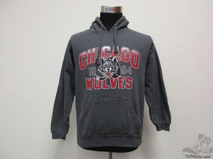 J America Chicago Wolves Hoody Sweatshirt sz S Small Hockey Hoodie IHL Blues  #JAmerica #StLouisBlues
