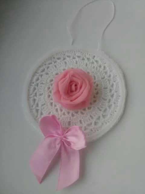 crocheted lace Christmas ornament create by Babu Szabo...L'Atelier croche lace and roses (my facebook page)