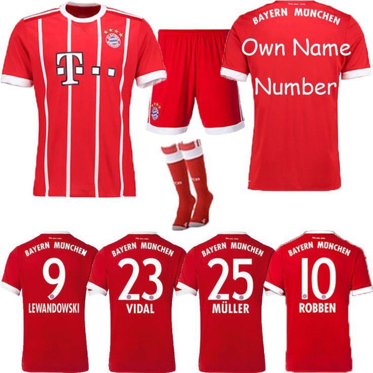 17/18 Football Team Club Suit Soccer Kits Short Sleeve For Kids 3-14 Years+Socks