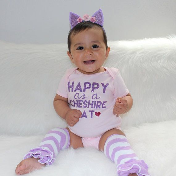 The Wonderland Collection: Cheshire Cat Baby Onesie by Banezco