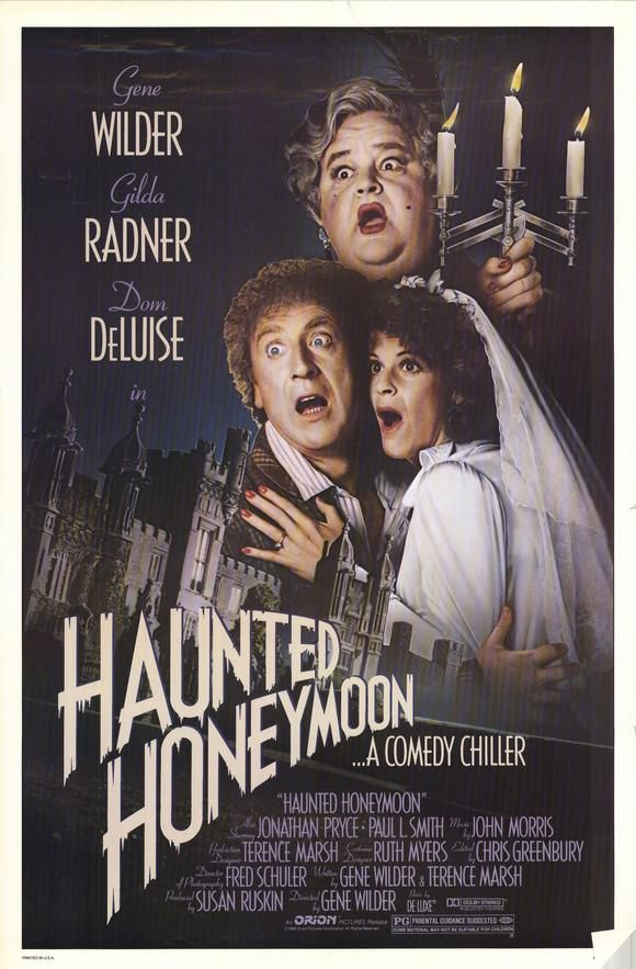 Haunted Honeymoon (1986) Stars: Gene Wilder, Gilda Radner, Dom DeLuise, Daryl Hannah, Jonathan Pryce, Peter Vaughan, Paul L. Smith, Jim Carter, Roger Ashton-Griffiths, Eve Ferret ~ Director: Gene Wilder (Dom DeLuise won A Razzie Award for Worst Supporting Actress playing Aunt Kate 1987)