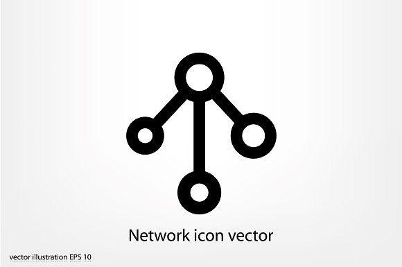Network icon vector. Community #network