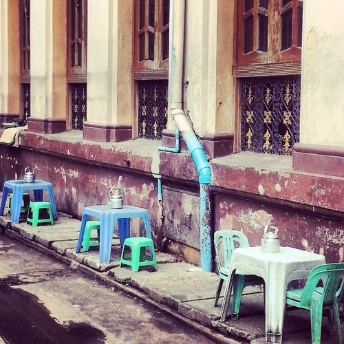 Street tea cafe, Yangon #wayfairer  #way_fairer