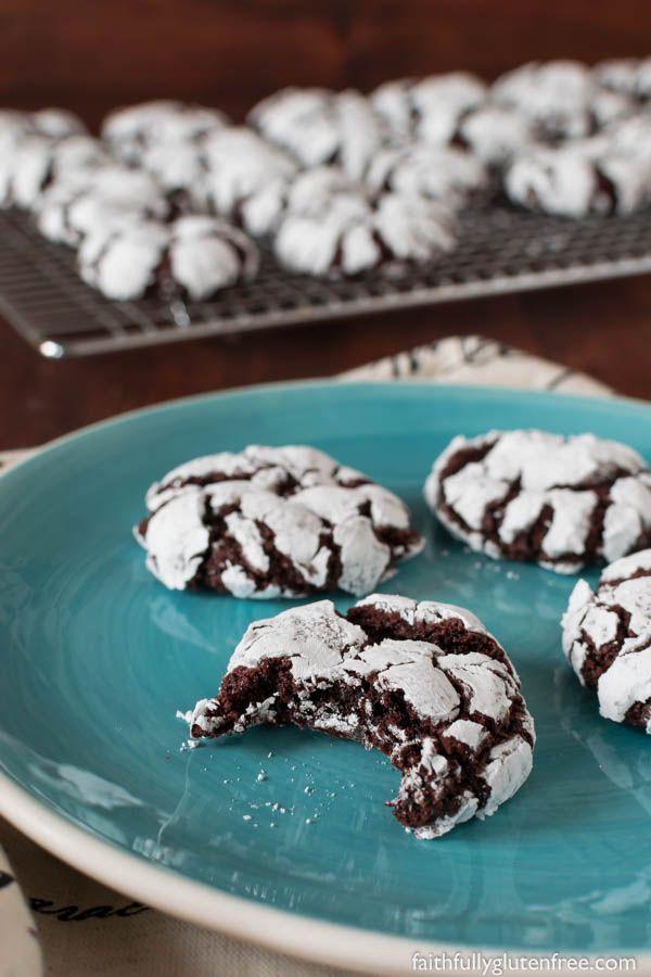 Fudgy Gluten Free Chocolate Crinkle Cookies Recipe Gluten Free