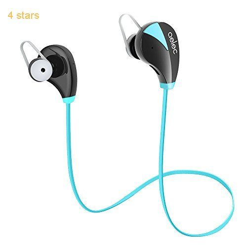 AELEC S350 Bluetooth Headphones Wireless In-Ear Sports Earbuds Sweatproof Earphones Noise Cancelling Headsets with Mic for Running Jogging Blue
