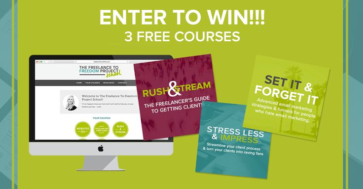 Giveaway: 3 Premium Courses for Freelancers!