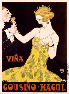 Vina Cousino Magul http://www.enjoyart.com/single_posters/champagne_wine/VintageVinaCousinoMagulAdWinePosterFineArtGicleePrint.htm