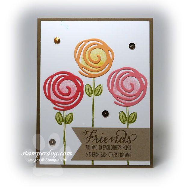 Swirly Bird stamp set; Swirly Scribbles Thinlits dies; Garden in Bloom stamp set; Stampin' Up!
