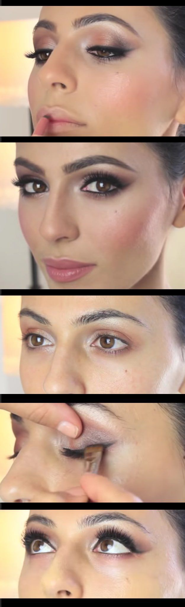 Wedding Makeup Ideas for Brides - Bridal Makeup Tutorial Simply Sona - Romantic make up ideas for the wedding - Natural and Airbrush techniques that look great with blue, green and brown eyes - rusti evening glow looks - https://www.thegoddess.com/wedding-makeup-for-brides