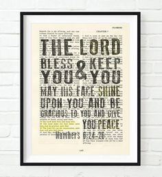 The lord bless you and keep you numbers 6 24 26 vintage bible