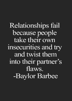 Insecurity And Jealousy In A Relationship