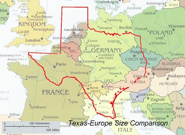 The Size of Texas!