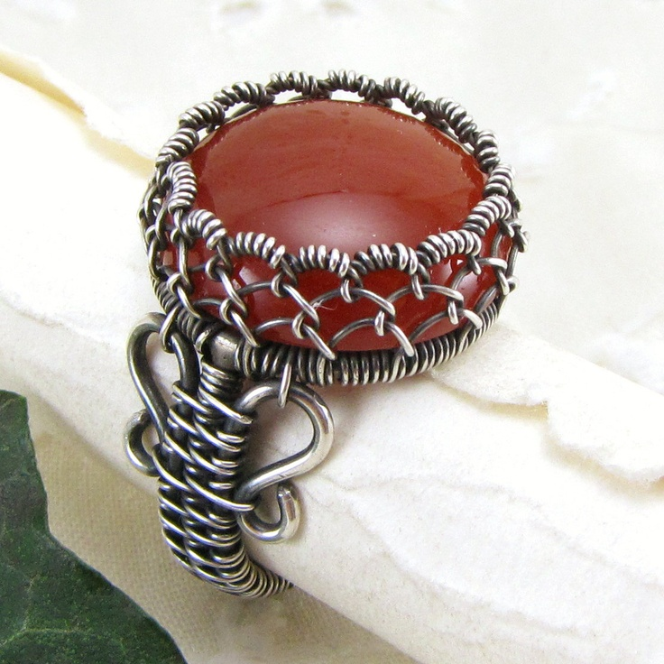 Sterling Silver Ring Handmade Wire Wrapped by GravelRoadJewelry, $85.00