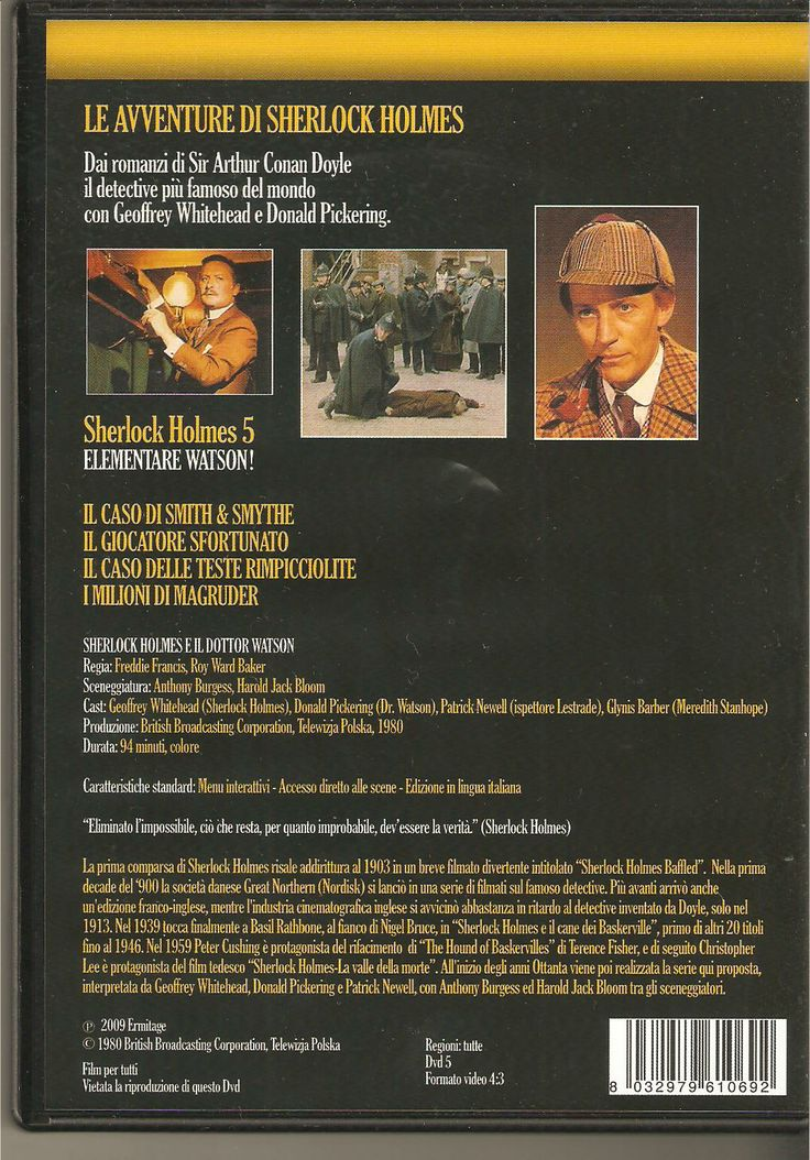 Back cover of one of the Italian DVD releases.