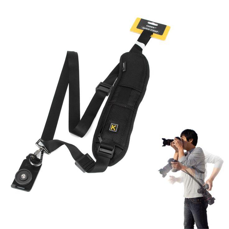 Jiam Universal Negro rápida y rápido hombro Correa de cuello Cinturón Sling para Canon Nikon Sony SLR / DSLR Cámara: Amazon.es: Electrónica