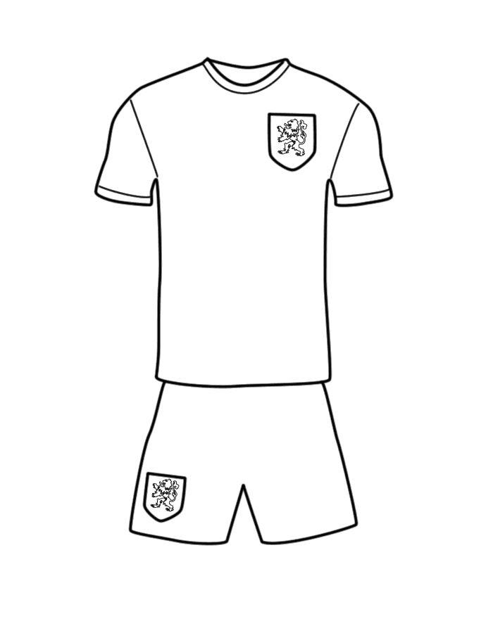 nederlands voetbal tenue voetbal voetbal tekenen