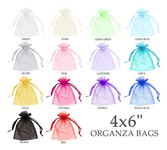 Organza bags 4x6 (30) - Organza bags - Organza gift bags - Sheer bags - Wedding favor bag - Drawstring bag - Jewelry pouch