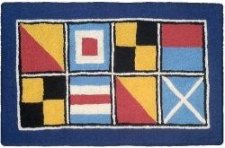 Indoor-Outdoor Washable Code Flag 2'x3' Rug