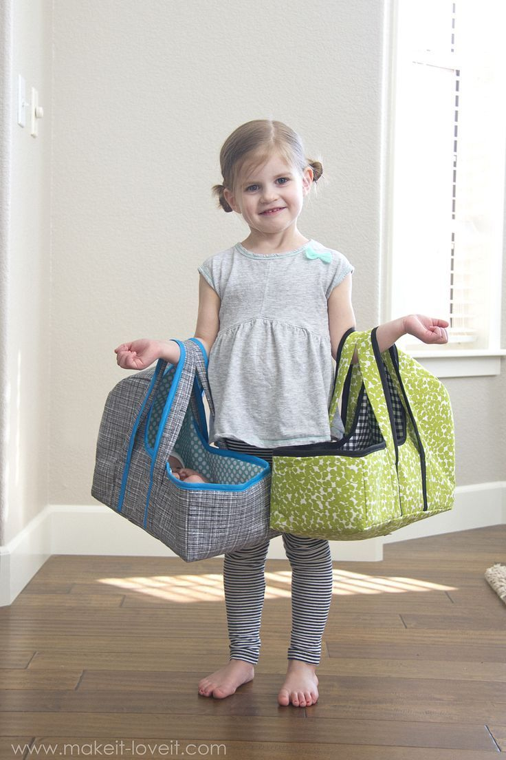 DIY Baby Doll Basket Carrier...a PDF sewing pattern, 3 sizes, plenty of…
