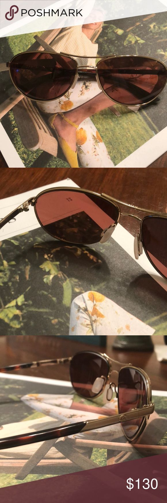 Costa Del Mar Sunglasses KC 580P Rose Gold (NWOT) BRAND NEW (NWOT) Perfect Condition, Rose Gold Frame, D704, 765 KC 64, Amber Polarized 580P Lenses. Never Worn, Perfect Condition, Small Frame, No Scratches, No Loose Screws, Clean Nose Pads, Costa Case, Decal and Paperwork. Beautiful Pair of Sunglasses and Great Fit! Costa Del Mar Accessories Sunglasses