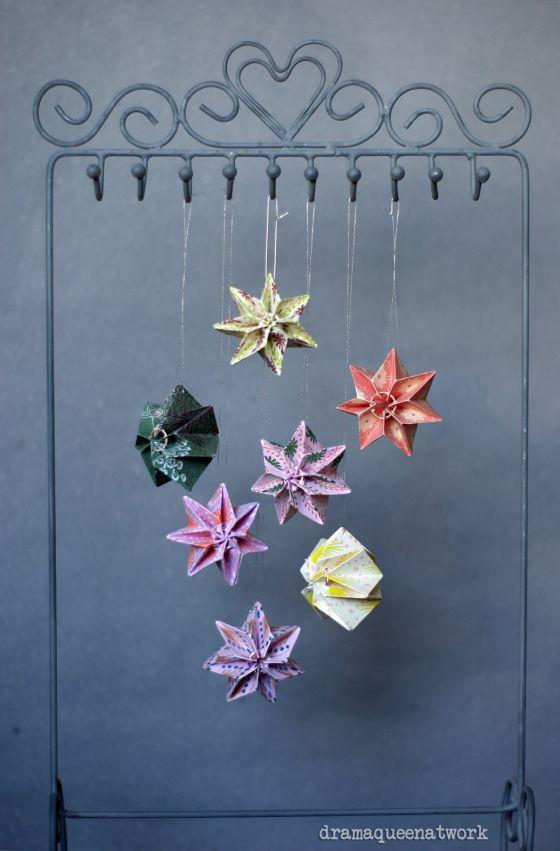 Plissee Sterne, Akkordeon Papier falten