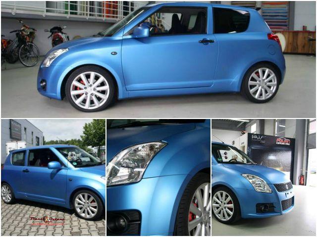 """""""Blue Candy"""" – Suzuki Swift Sport by Folien Center"""
