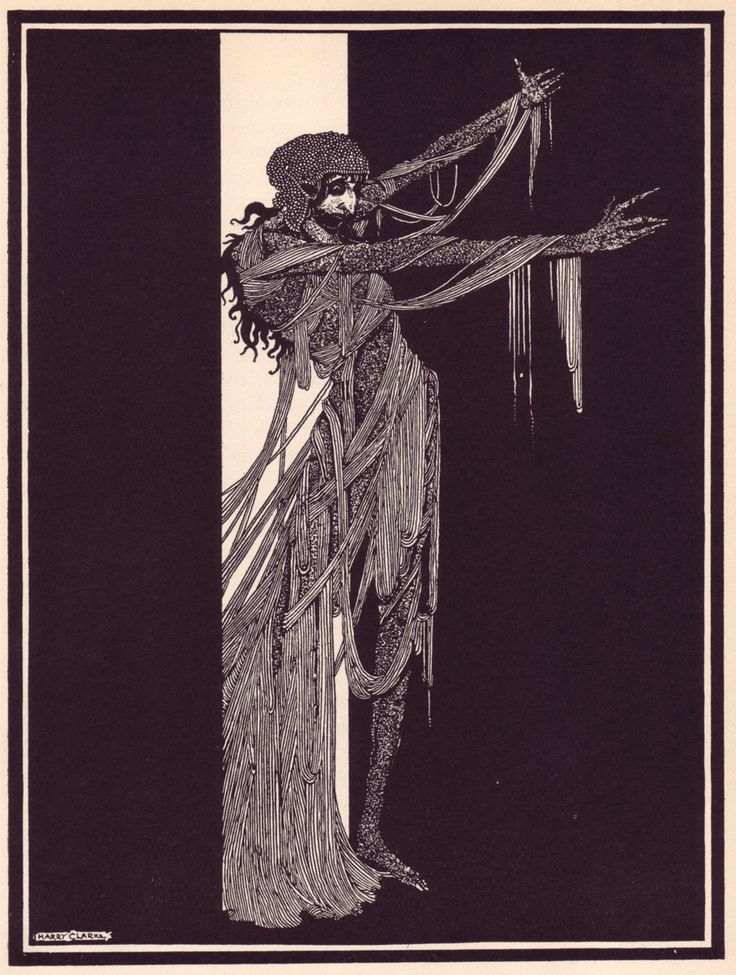 1923: Tales of Mystery and Imagination by Poe, illustrated by Harry Clarke