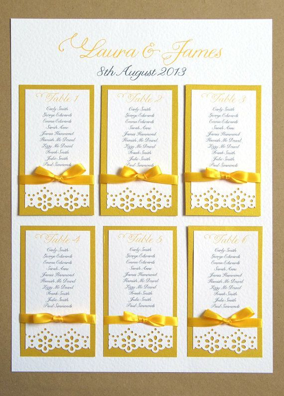 Daisy Lace Wedding Table Plan A2
