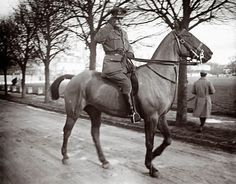 Field Marshall Douglas Haig rides a horse at an unknown location in France, Feb. 14, 1916. Haig was the British commander-in-chief during the Somme battle.