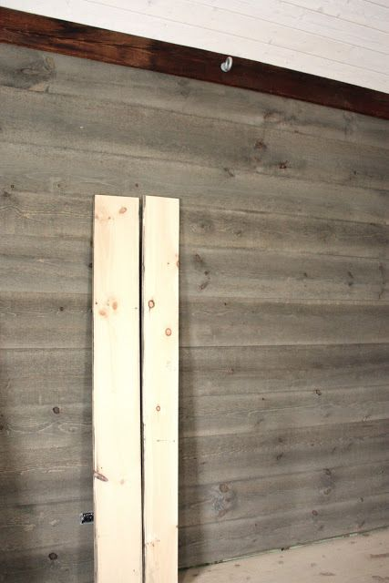 Rough Cut Pine Boards Stained To Look Aged For The