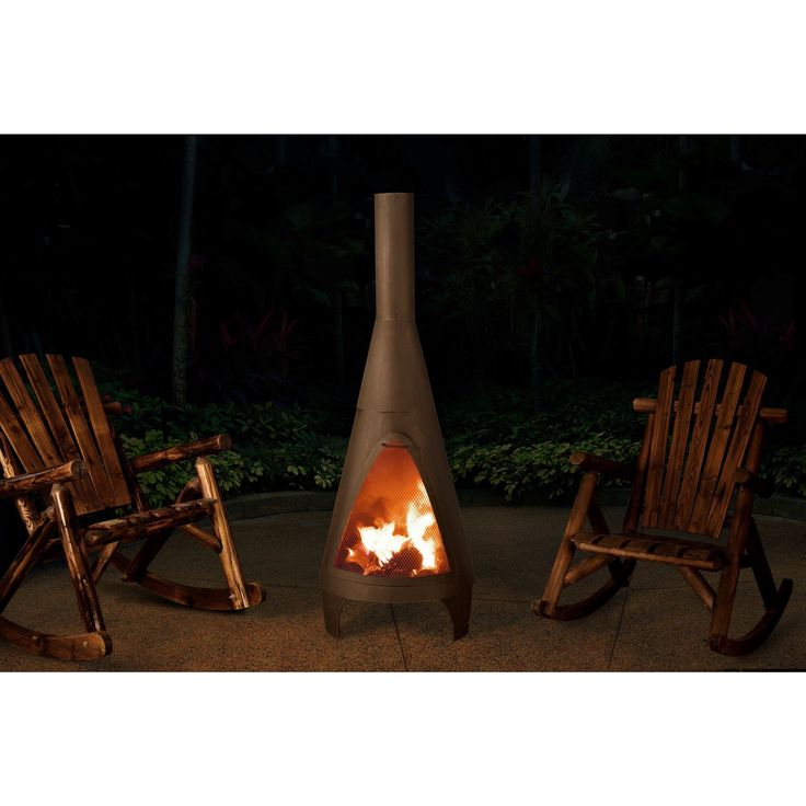 Warm and illuminate with this Sunjoy Colby chiminea. Made of hardy steel, this chiminea's spark guard prevents flaming embers from popping out, while its scruff protectors don't scrape outdoor floors