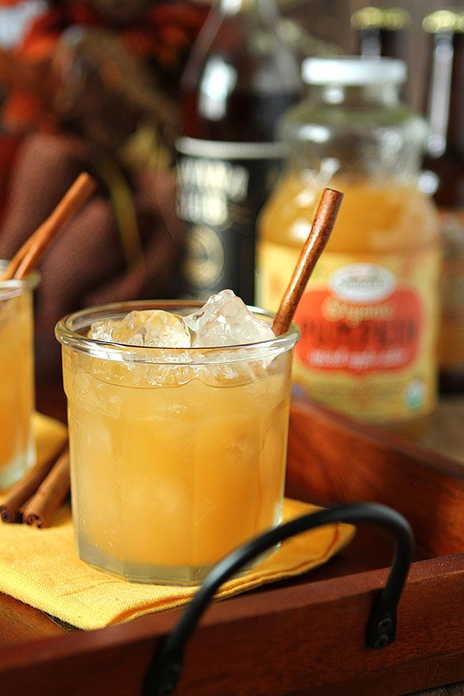 Pumpkin Spiced Apple Cider with Rum Cocktail